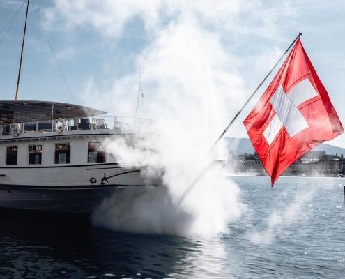 visite virtuelle de croisière sur le lac suisse, 360 degrés et immersive
