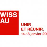 logo de Swissbau pour l'agenda de 3D Swiss View à Martigny, Spécialiste de la visite virtuelle 360° degrés en Suisse