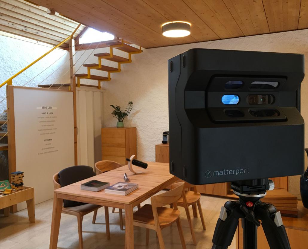 Image avec caméra Matterport pour page Home-Staging de 3D Swiss View en Valais, Suisse