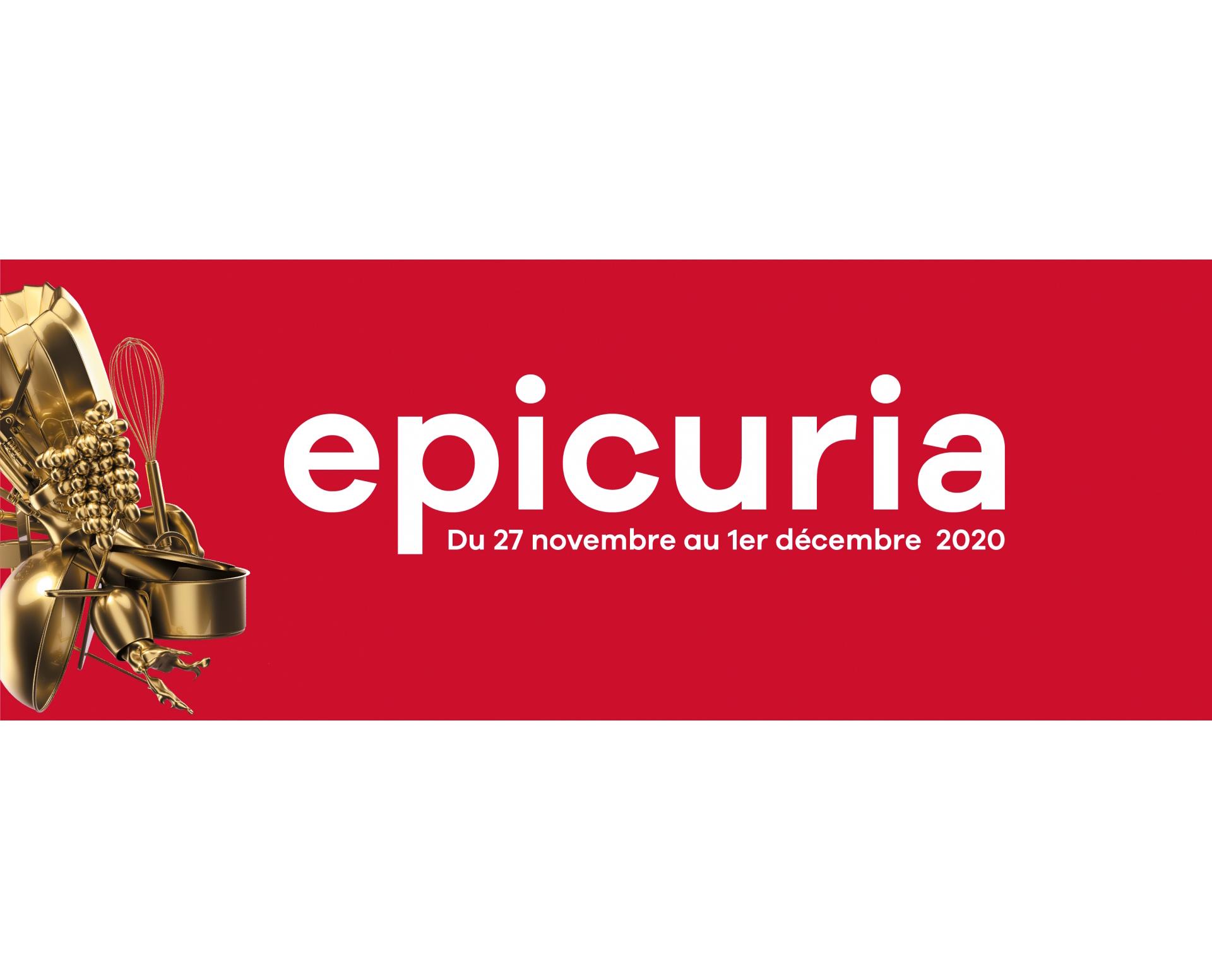 le logo du salon Epicuria à Martigny pour l'agenda de 3D Swiss View en Valais, Suisse