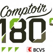 Logo Le Comptoir 180° à Martigny pour agenda de 3D Swiss View, le spécialiste de la visite virtuelle 3D en Suisse
