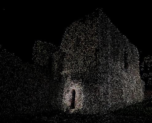 Image d'un nuage de points pour numérisation 3D Matterport pour relevé 3D Swiss View à Martigny, Valais