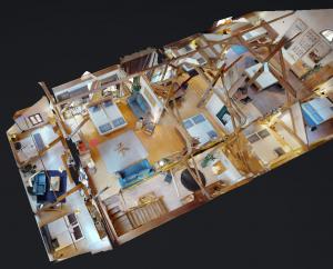 Vue en perspective d'une visite virtuelle 360° de Matterport pour 3D Swiss View en Suisse