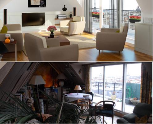 photo de Home Staging - Avant et Après pour 3D Swiss View spécialiste Matterport Suisse