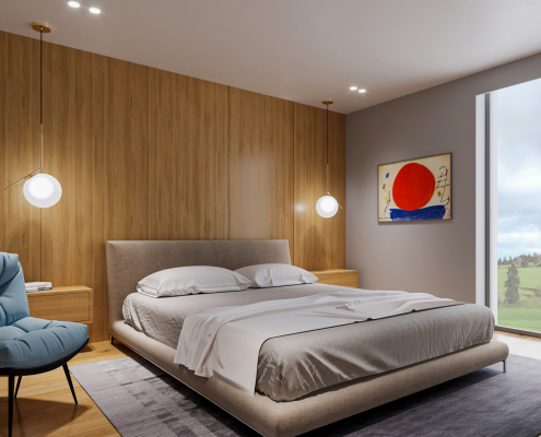 Photo de synthèse pour promotion immobilière, réalisation par 3D Swiss View