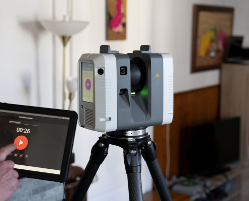 Laser Scan Leica pour numérisation 3D d'un bâtiment
