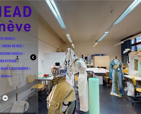 HEAD à Genève, photos du template de la visite virtuelle réalisée par 3D Swiss View à Martigny et Lausanne