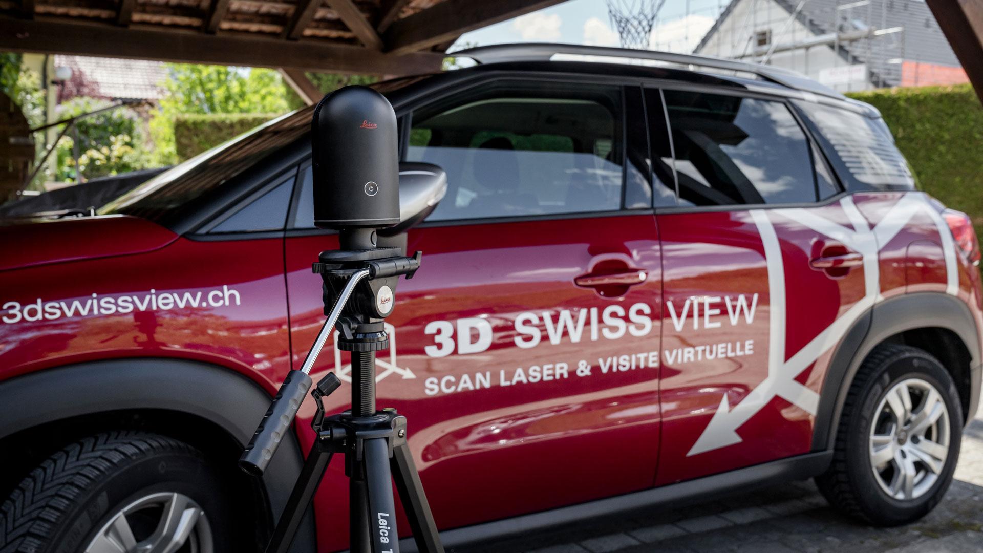 Voiture de 3D Swiss View Sàrl à Martigny et Romanel-sur-Lausanne