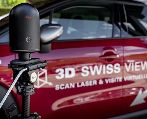 Leika BLK 360 et voiture de 3D Swiss View