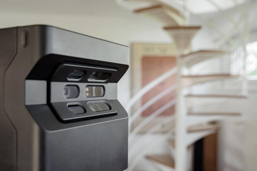 Caméra Matterport pro 2 dans un appartement